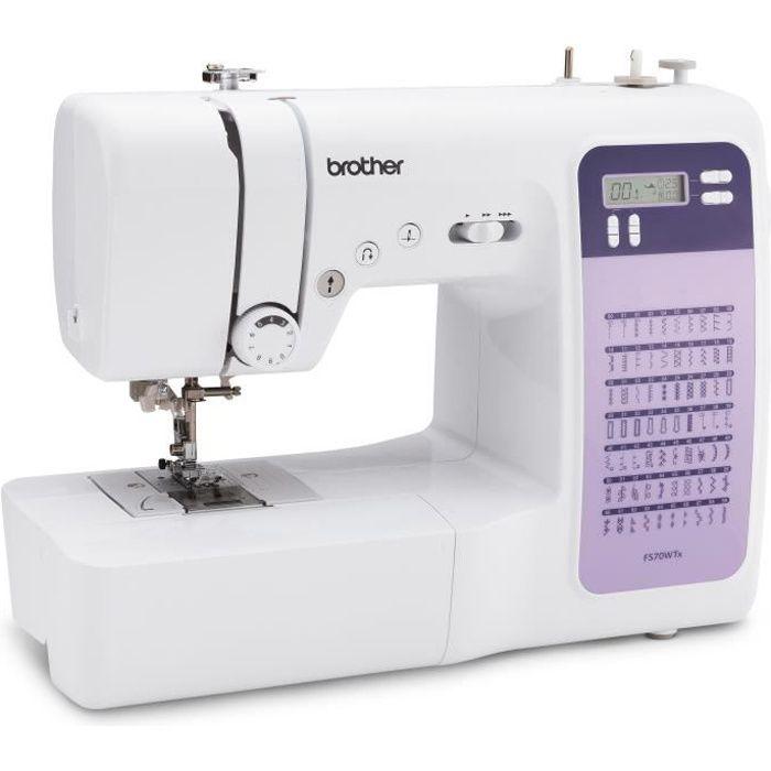 BROTHER FS70WTx Machine à coudre électronique - 70 points - Enfile-aiguille - Ecran LCD - Touches de sélection - Bras libre