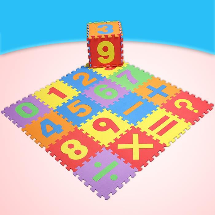 MOQUETTE - ACCESSOIRE MOQUETTE Tapis de sol puzzle 16 pièces