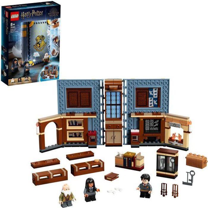 LEGO® Harry Potter™76385 Poudlard : Le cours de sortilèges, livre incluant les figurines de Harry Potter™ et du professeur Flitwick