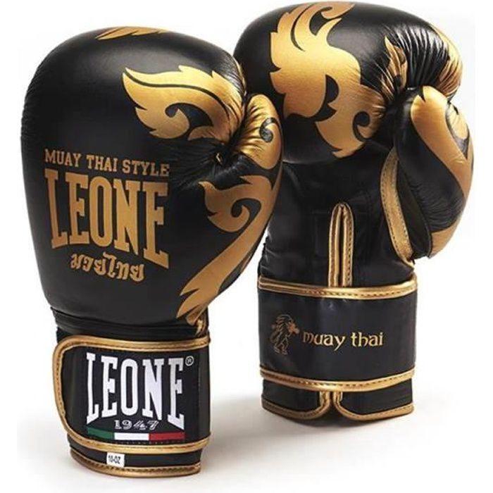 LEONE Gants de boxe Muay Thaï - Homme - Noir