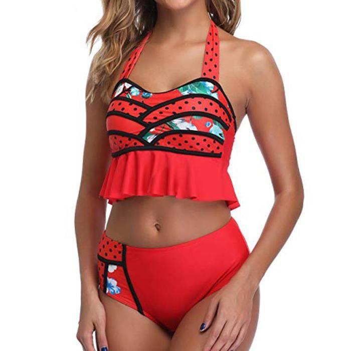 COMBINAISON DE NATATION Bikini Set maillot de bain taille haute Dinosaur Imprimer maillot de bain de plage Maillots de bain