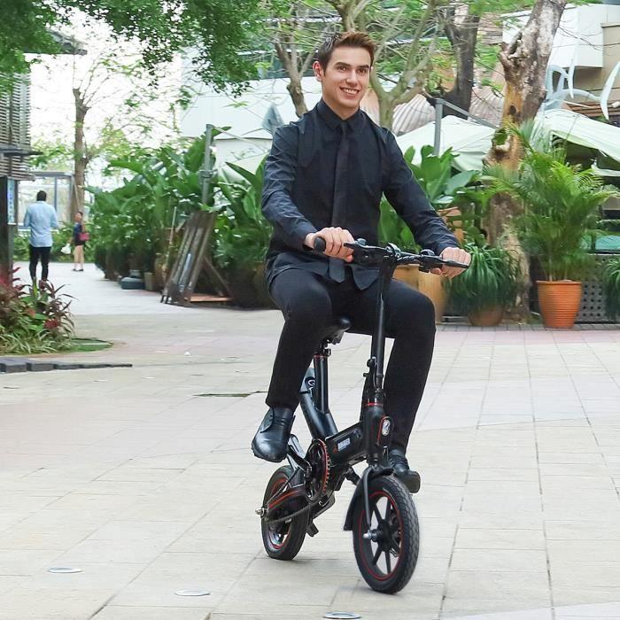 DOHIKER Y1-vélo électrique étanche Ebike pliant 14 '' E-mountain-Velo Assistance Electrique Batterie 10Ah-350W- 25 km / h LCD pliabl