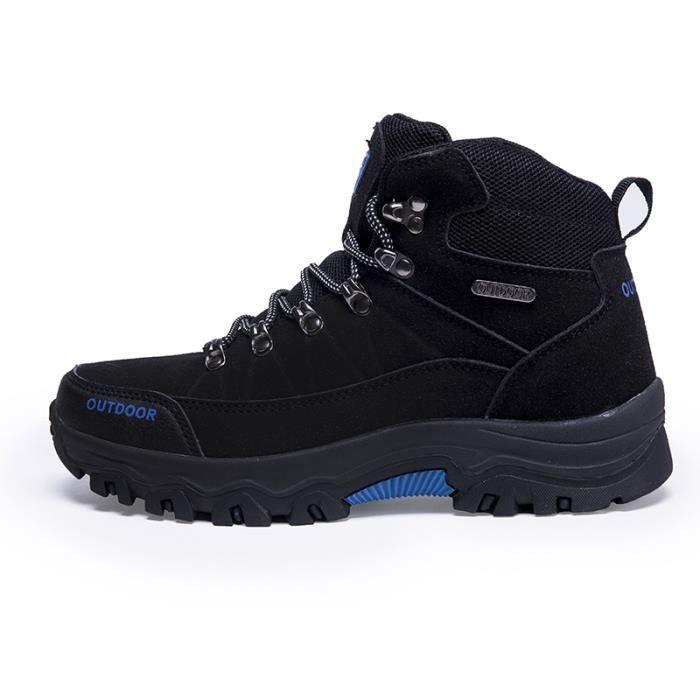 Chaussures Marche-Rando Homme Trekking Outdoor Respirant Mode Randonnée - Noir