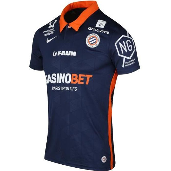 Maillot Montpellier Domicile 2020/2021 100 % Polyester