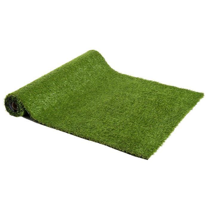 Tapis Gazon Artificiel GREEN avec Picots de Drainage Terrasse Beige 4,00m x 4,00m Tapis Type Gazon Synth/étique au m/ètre Balcon Moquette dext/érieur etc Jardin