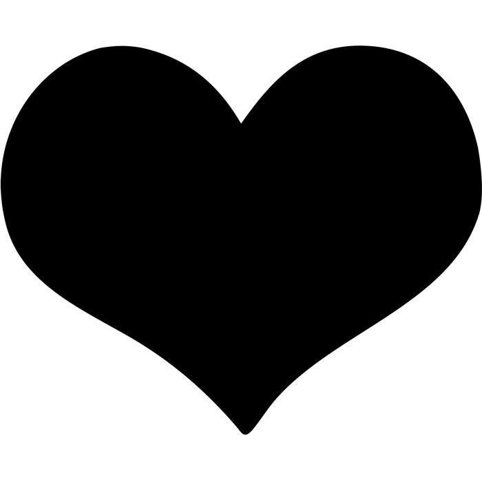 Silhouette coeur ardoise - Feutre-craie inclus et kit velcro pour accrochage mural - 30x50cm