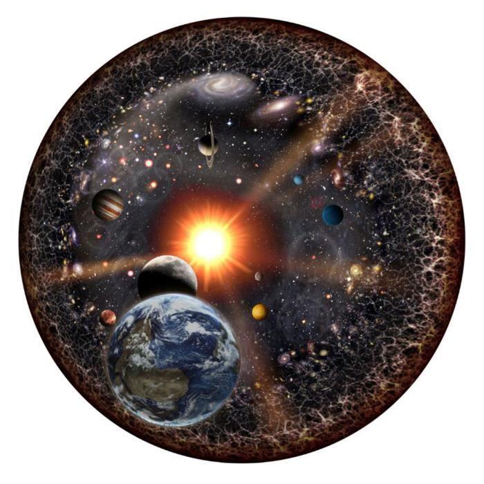 1000 pièces Rondes Puzzle Univers système Solaire Planète Terre Soleil avec Les Enfants Adultes Jeu Toy015