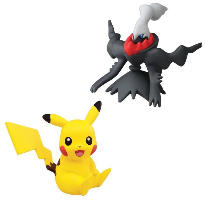 POKEMON Pack 2 Mini Figurines, Pikachu vs. Darkrai