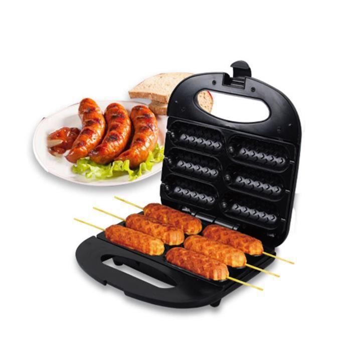 Machine à Gaufres Saucisse Électrique Automatique Machine à Pain Sandwich - Cuisson Grill Saucisse - Hot Dog Maker 750W VINTEKY®