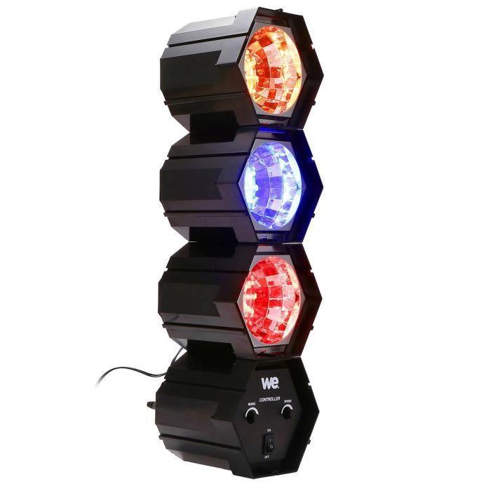 Nirvana - Modulateur à 3 modules 108 LEDs 3 Couleurs - Vitesse réglable-Mode Auto-Musical