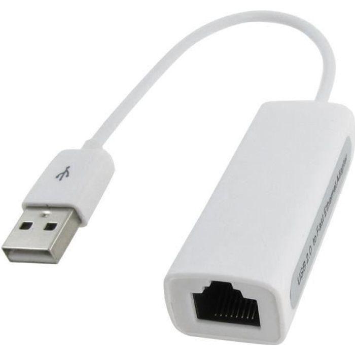 Adaptateur USB 2.0 Ethernet 10