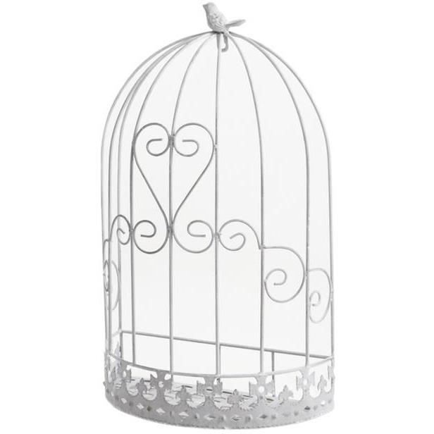 cage murale d co oiseau en m tal 32x17x53cm achat. Black Bedroom Furniture Sets. Home Design Ideas