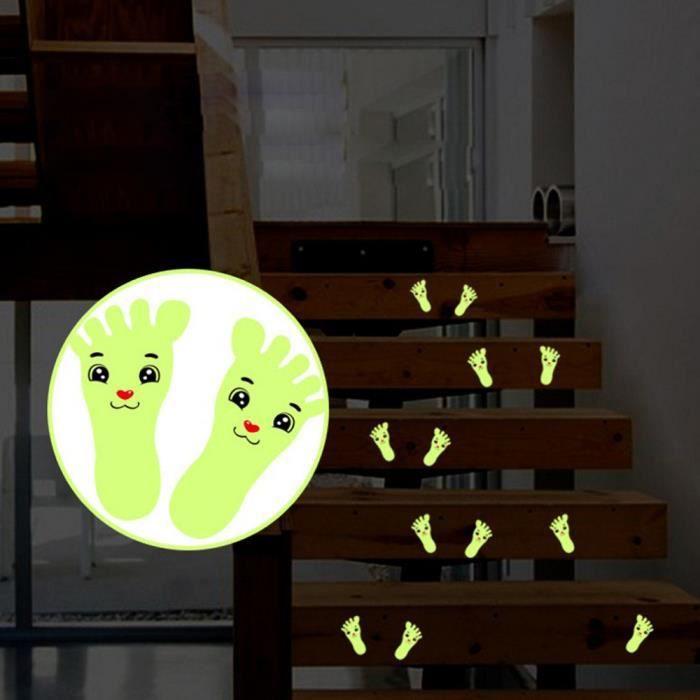 APPLIQUE  Sticker 1 paire d'empreintes imprimées applique en