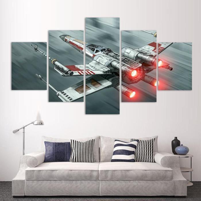 TABLEAU - TOILE No Frame tableau toile peinture  5 Pièces Star War