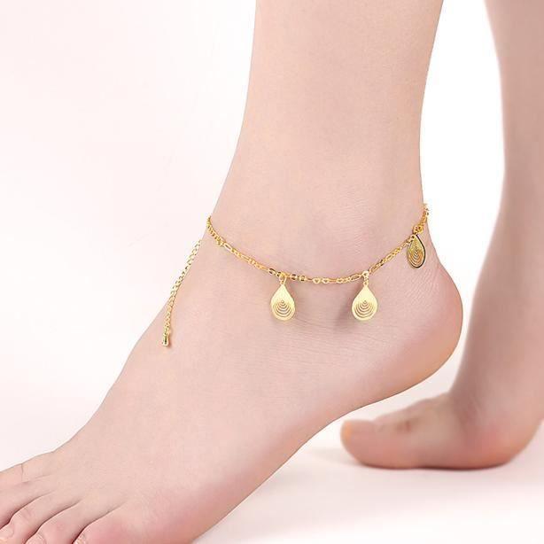collier pied femme