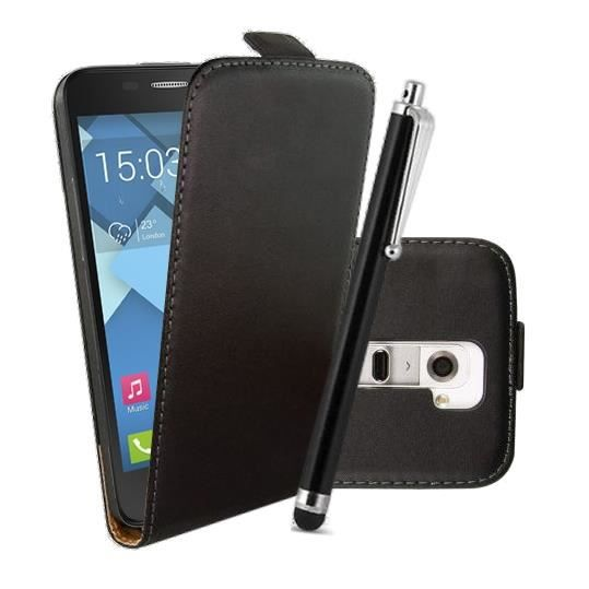 Housse cuir stylet pour alcatel one touch pop c5 achat for Housse alcatel one touch