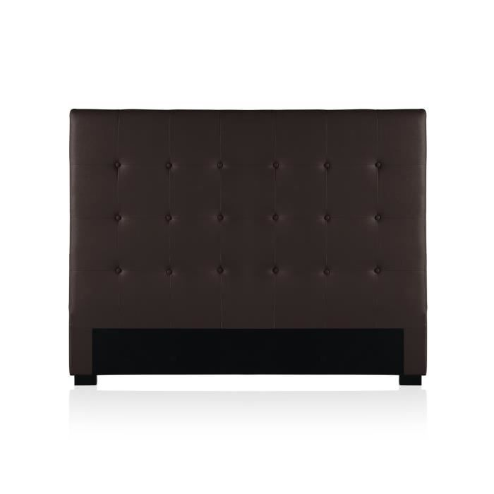 t te de lit capitonn e premium 160cm marron achat. Black Bedroom Furniture Sets. Home Design Ideas