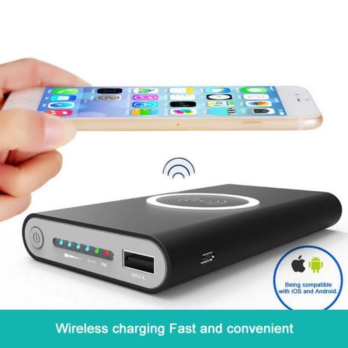 20000mAh Batterie Externe sans fil Power bank , Qi Chargeur de batterie  mobile à chargement rapide For iphone X 8 8 Plus, S9 S - Achat batterie  externe pas cher, avis et meilleur prix - Cdiscount