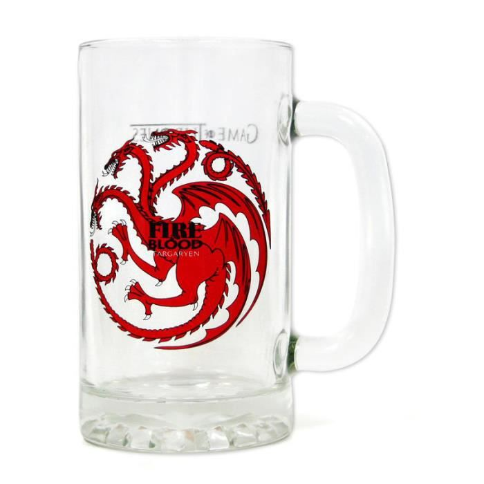 chope de bière game of thrones fire and blood - achat / vente