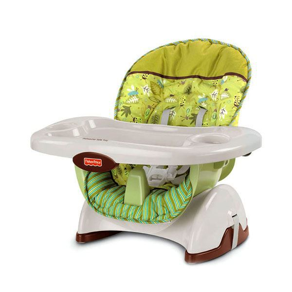 Fisher price si ge haut blanc et vert achat vente r hausseur si ge 0746775091385 soldes for Chaise 4 en 1 fisher price