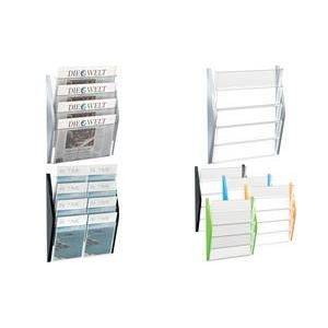 Helit porte brochures mural format a3 l 39 ital achat for Porte document mural