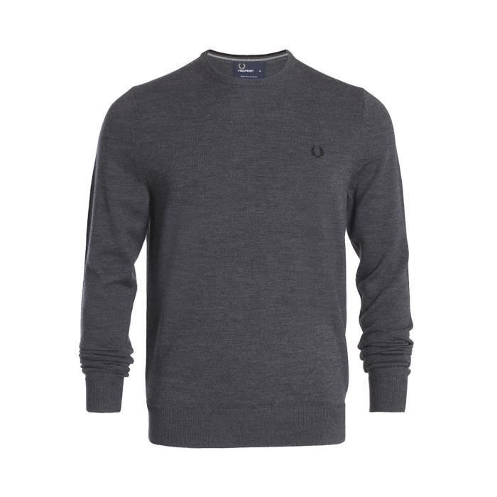 Pull Fred Perry Classic Crew Neck Sweater K7211829 Gris Gris