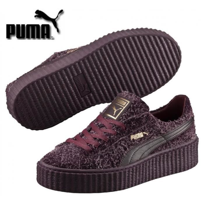 71313003f1f Baskets Puma Suede Platform Bordeaux femme 362224 03 Rouge Bordeaux ...