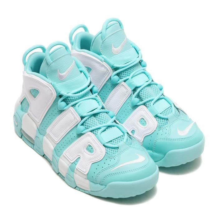 buy popular 5d0b2 4578a Baskets Nike Air More Uptempo Chaussures Femme Island Verte