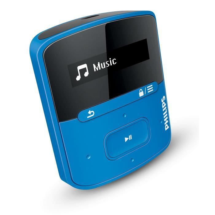 philips raga lecteur mp3 4go bleu lecteur mp3 prix pas cher cdiscount. Black Bedroom Furniture Sets. Home Design Ideas