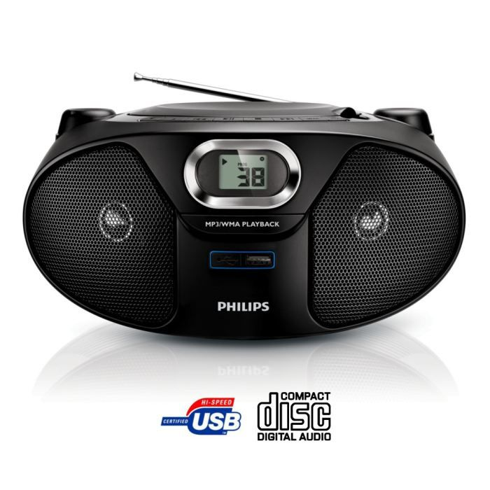 philips az385 lecteur cd radio portable radio cd. Black Bedroom Furniture Sets. Home Design Ideas