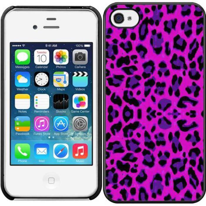 Coque iphone 4 leopard rose