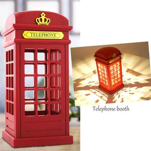 LAMPE A POSER Retro London Telephone Booth Night Light Touc capt