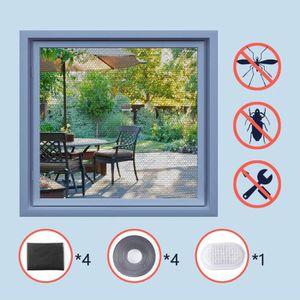 MOUSTIQUAIRE OUVERTURE  4pcs- Moustiquaire pour Fenêtre Fiable Anti Insec