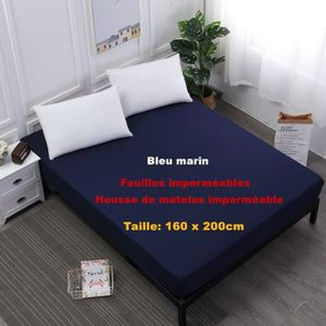 MATELAS Bleu marin - 160 x 200cm  Feuilles imperméables Ho