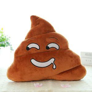 COUSSIN Mini Saliva Emoji Coussin Poo Forme Coussin Poupée