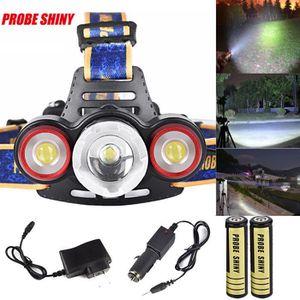 LAMPE DE POCHE XML T6 + Headlamp 2R5 3 LED Head Light Torch + Cha