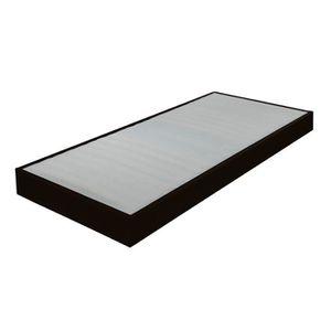 SOMMIER Sommier tapissier 90x190 Omega simili noir 16 latt