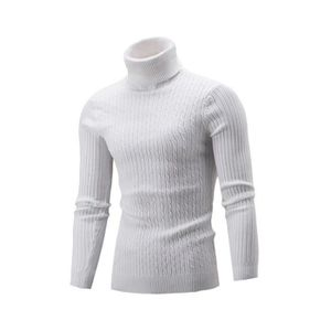 PULL Homme Col Roulé Sweater Cardigans en Maille Slim F 1c2b008bce67