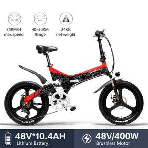VÉLO ASSISTANCE ÉLEC LANKELEISI G650 vélo électrique 20 * 2.4 Gros Pneu