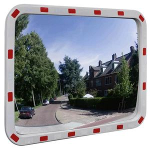 MIROIR DE SÉCURITÉ Miroir convexe rectangle avec réflecteurs 60 x 80