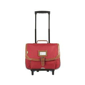 CARTABLE Tann's - Cartable à roulettes rouge 38cm CE1/CE2 M