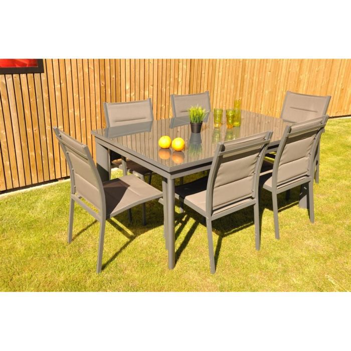 boston table extensible 160 240x100x h75cm achat vente table de jardin boston table. Black Bedroom Furniture Sets. Home Design Ideas