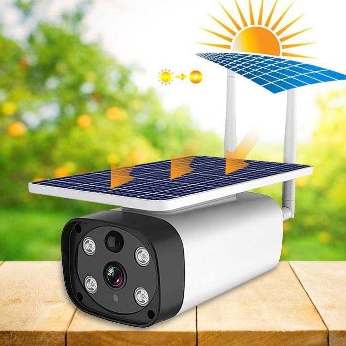 4G 1080P 5W Caméra Extérieure couleur IP67 IR-CUT à énergie solaire Vision (Bande EU)-CER