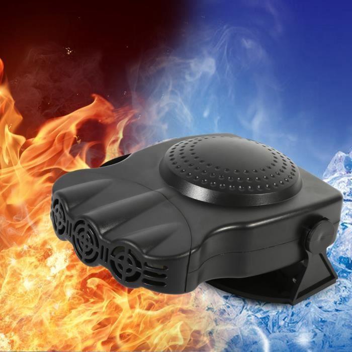 2 en 1 radiateur soufflera de pare-brise de ventilateur de chauffage de véhicule de voiture de chauffage de 12V 150W