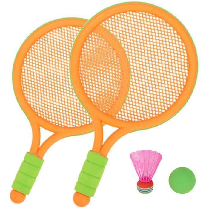 Sports sur gazon Tennis Ensemble de Raquette Les Enfants Jouets d'extérieur Bébé en sécurité Raquette Jouez à Un Jouet E 334172