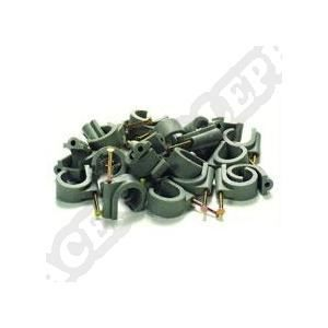 VOLTMAN Lot de 20 attaches professionnelles - Diamètre 20 mm² - Gris