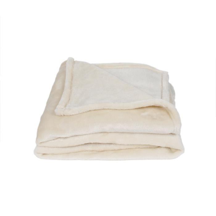 THE HOME DECO FACTORY Plaid Polyester, Ecru, Taille Unique TX8013