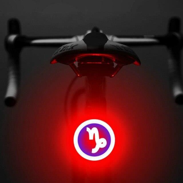 Lampe arrière de plusieurs modèles pour vélo et VTT,éclairage rechargeable 100 USB, pour rouler la nuit, multi création,*PY2244
