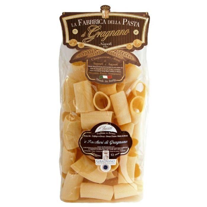 Pâtes italiennes Paccheri -Gragnano- IGP 500 Gr.