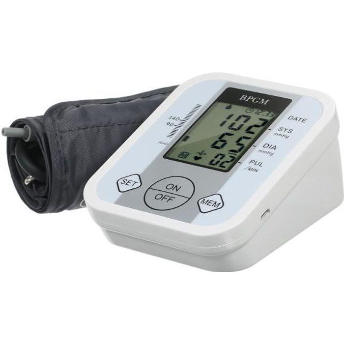 Tensiomètre de bras - Mesure de l'arythmie, avec 99 groupes de mémoire